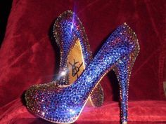Sparkling blue shoes
