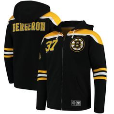 25bfeb965 Patrice Bergeron Boston Bruins Fanatics Branded Breakaway Full-Zip Hoodie -  Black