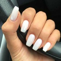 Best Acrylic Nails for 2017 - 54 Trending Acrylic Nail Designs - Best Nail Art - White Acrylic Nails - Simple Acrylic Nails, Acrylic Nail Shapes, Best Acrylic Nails, Acrylic Nail Art, Acrylic Nail Designs, Simple Nails, Best Nail Designs, Best Nails, Colored Acrylic Nails