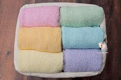 Pastel Two-Toned Rainbow Baby Stretch Knit Set Wraps] Knit Wrap, Newborn Photography Props, Rainbow Baby, Photo Props, Wraps, Pastel, Knitting, Coats, Cake