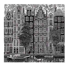 Vinyl Cut Amsterdam by Sue Scullard