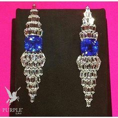 Feel the beauty with this simply made blue sapphire and diamond earrings by…