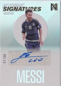 Up for sale is a Panini Nobility Soccer Aldo Serena Iconic Signatures Autograph Card Rare, only 175 made! Autograph is certified authentic by Panini. Lionel Messi 2017, Trading Cards, Baseball Cards, Argentina, Collector Cards