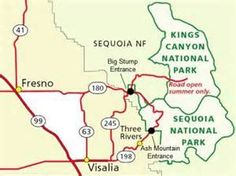 Sequoia National Park Map Bing Images