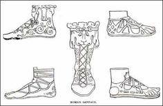 Each class had a specific type/colored gladiator. For example Patricians wore red sandals with an ornament on the back.