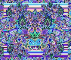 https://www.facebook.com/FlorentinaPrint  textiles  print design paisley arabesco azul  flores  hojas