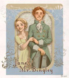 Jane and Bingley of Pride and Prejudice by selene231 at deviantart