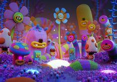 Surrealism Illustrator Styles - POKEDSTUDIO is a Cardiff based creative agency focusing on illustration, brand design and animation. Superflat, Takashi Murakami, 3d Character, Character Design, Modelos 3d, Behance, Affinity Designer, 3d Artwork, Environment Concept