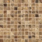 Jade 13 in. x 13 in. Chestnut Porcelain Mesh-Mounted Mosaic Tile-UE45 at The Home Depot