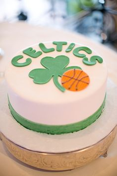 Boston Celtics Groom Cake Basketball Birthday Party Celtic Pride Sport Cakes