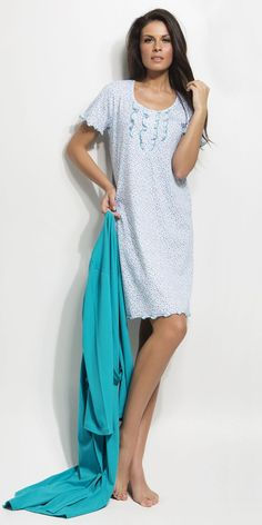 Nightgown 100% Cotton | Homewear| Vamp! Ladies Nightgown 100% Cotton 4465 Short Sleeve Dresses, Dresses With Sleeves, Nightgowns For Women, Ss 15, Night Gown, Cover Up, Summer Dresses, Lady, Cotton