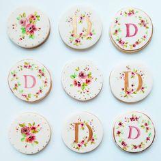 Nevie-Pie Cakes Hand Painted Monogram Cookies