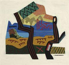 Analogical Emblem Landscape by Stuart Davis