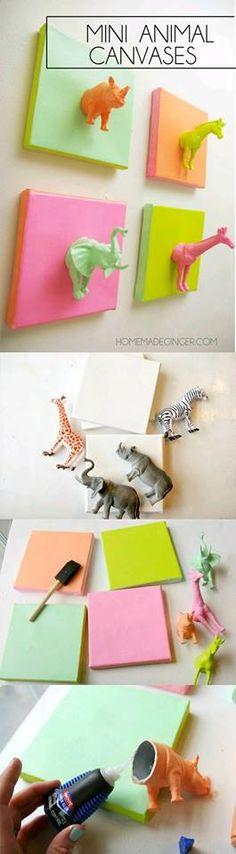 Mini telas com animais.