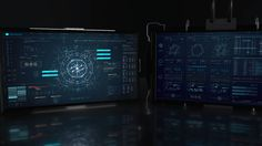 My latest FUI project. F-User Interfaces (the F can mean, Fantasy, Fictional, Fake, Film, Future  Four screens created. Took inspiration from UI work in Avengers…