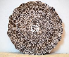 Giant mandala stamp finely carved traditional Indian Henna carved wood block