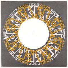 1960s ELEKTRA RECORDS 45 RPM Record Sleeve