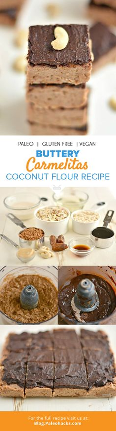 These buttery carmelitas are a delicious and healthy treat made with coconut flour. If you love caramel and chocolate, then these goodies are made for you! For the full recipe, visit us here: http://paleo.co/carmelitasbars