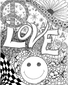 314 best Trippy/Psychedelic Coloring Pages images on Pinterest ...