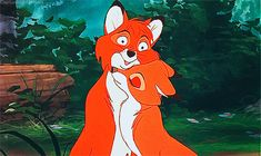 """Todd and Vixey from """"The Fox and The Hound"""" (Walt Disney Productions, 1981)"""