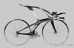 ejemplos de diseño industrial, Bicicleta con estilo futurista para Mazda por Rafael Crespo