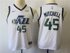 Utah Jazz  45 Donovan Mitchell Youth White Swingman Jersey 19e0c0f16
