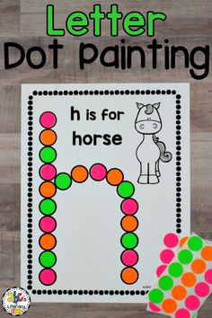 Letter Dot Painting Worksheets are a fun way for your students to practice recognizing capital and lowercase letters. Bingo dauber activities also help children develop their hand and eye coordination and hand control. These no-prep, do-a-dot worksheets can be used as an easy literacy center or as an independent activity for early finishers. This alphabet activity is the perfect addition to your Letter of the Week units too. Click on the picture to learn more! #letterdotpainting #doadotletters