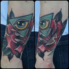 tattoosbykatie:  Thanks @hansisolo7 !!! #blackcobratattoos #ladytattooers #boldwillhold #littlerock #arkansas  (at Black Cobra Tattoo Studio)   Katie McGowan