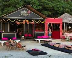 "Jade Jagger""s Beach place in Goa - I'm in love with the lounging pillows"