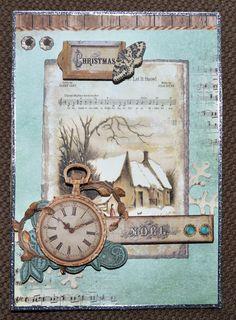 """3D Karte """"Let it Snow"""" inkl. Umschlag von Pattys Kartenwelt auf DaWanda.com"""