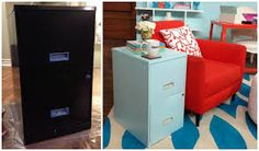 repurpose old metal filing cabinet - Google Search