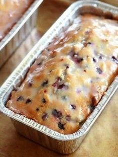 This lemon bluberry recipe is a quickbread. The lemon and berry together make a great taste! Perfect for summer as a treat or dessert.
