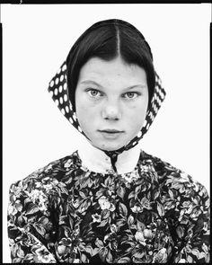 Freida Kleinsasser, thirteen-year-old, Hutterite colony, Harlowton, Montana, June 23, 1983