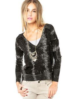 bbef1b33608 Blusa Shoulder Preta - Marca Shoulder Preto