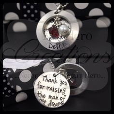 CUSTOM HandStamped MotherInLaw Necklace by MyHeroCreations on Etsy, $27.00