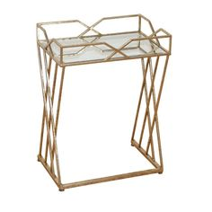 Drew bamboo and white lacquer folding side table bamboo furniture found it at wayfair side table wire framegold greentooth Images