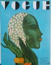 PARIS VOGUE COVER - MARCH 1931 - ART DECO FASHION BOOK PRINT