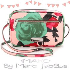 MARC by Marc Jacobs Rose Print Crossbody A flower splashed crossbody bag made in the USA features a structured silhouette, easy crossbody strap an exterior zip pocket for keeping your smartphone handy. Logo-etched hardware & a signature plaque polish the look. Style name: 'Jerry rose-Sally' flower print crossbody bag.                                                       ❤️ in mint condition. Selective trade for something I absolutely love. Priced to make money back. SOLD OUT IN…