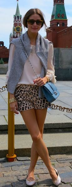 Purse – Christian Dior  Shorts, shirt, and vest – Tibi  Shoes – French Sole