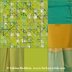 Farben und Stoffmuster für warme und kalte Farbtypen ...