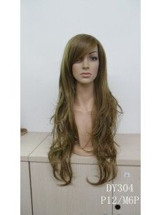 Brown & Blonde Mix P12/M6P Silky Curly Hair Wigs