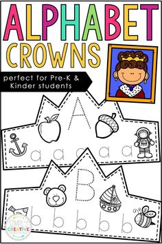 Use these alphabet ABC tracing crowns and headbands in your preschool, Pre-K, or kindergarten classroom! These ABC crowns work on beginning letter sounds. Students trace uppercase and lowercase letters and color ABC pictures for each one. Use these fun activities for letter of the week. These crowns are quick ABC printables to add to your lesson plans!