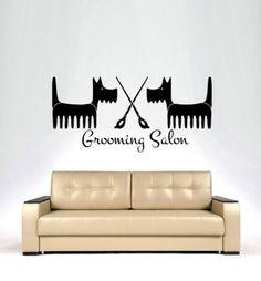 Dog-Wall-Decals-Grooming-Salon-Decal-Vinyl-Sticker-Pet-Shop-Home-Decor-Art-MN345