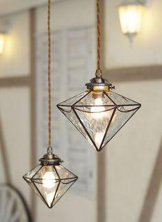 Diamond pendant lights