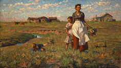 "A beautiful piece by Harvey Dunn, The Prairie is my Garden, State Painting of South Dakota, but affectionately known to my family as, ""Mrs. Scissorhand"" <3"