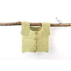 Gilet Edgar pour bébé à maches courtes - coloris vert pistache - en coton- A 3ba57af2e01