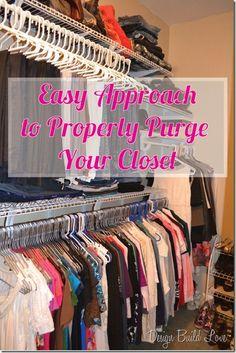 This is fantastic advice for purging your closet! via DesignBuildLuv