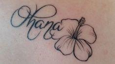 Ohana means Family | We Heart It | black, flower, and girl
