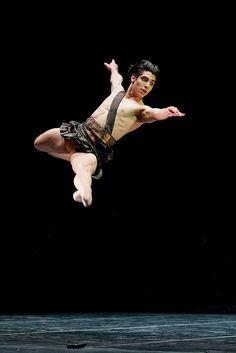 Cesar Corrales wins English National Ballet's Emerging Dancer Award 2016 - Cesar Corrales in the Diana & Acteon pas de deux - photo by Dasa Wharton