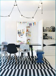 Definitely coveting the Eames DSW chair & have added the ikea stockholm rand rug to my list of must-haves.